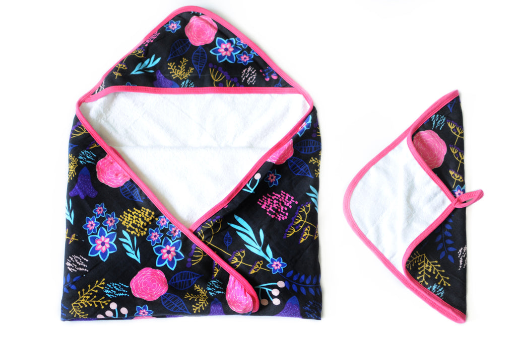 Pocketful of Posies | Baby Towel + Washcloth Set