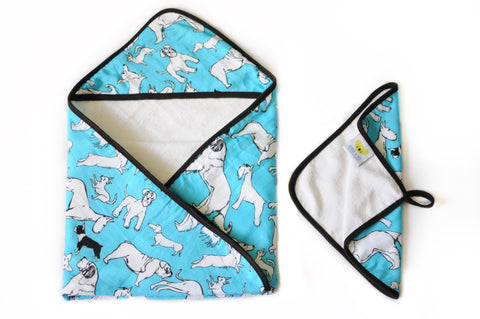 Love Me, Love My Dog | Baby Towel + Washcloth Set