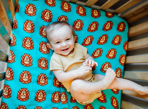 Roar | Cotton Crib Sheet - Oliver + Kit