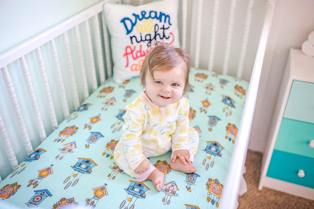Cuckoo Time | Bamboo Blend Crib Sheet - Oliver + Kit