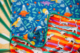Rainbow-saurus Reversible 8-Layer Bamboo Blend Muslin Cuddle Quilt - Oliver + Kit