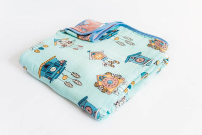 Cuckoo For You | 8-Layer Bamboo Blend | Reversible Cuddle Blanket - Oliver + Kit