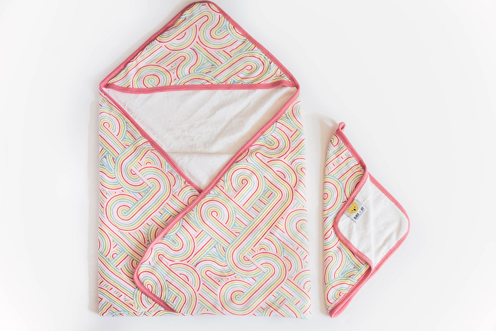 Rainbow Connection | Baby-Big Kid Towel + Washcloth Set