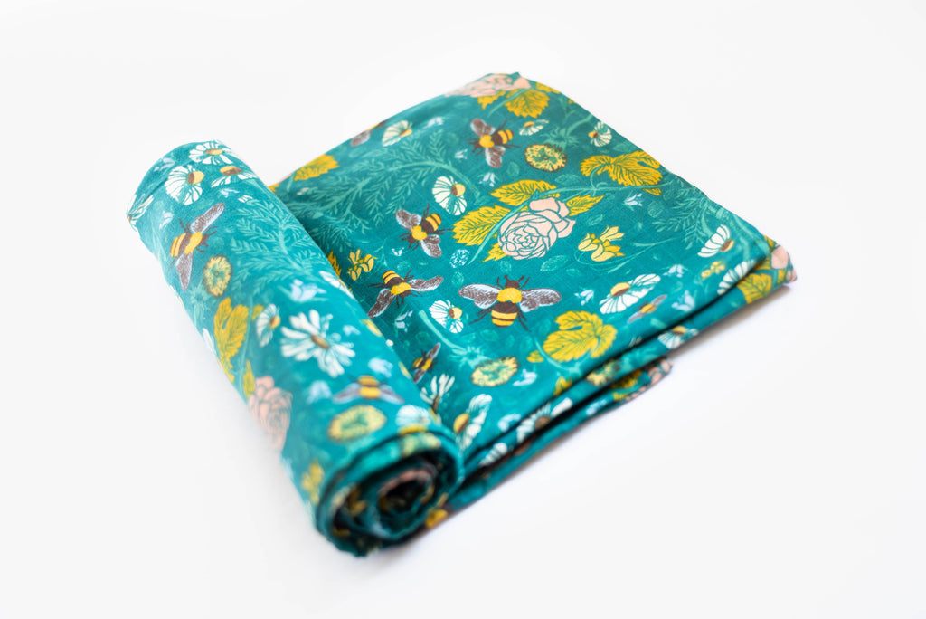 Honeyflower | Cotton Single Swaddle - Oliver + Kit