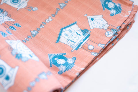 Tick Tock | Bamboo Blend Single Swaddle - Oliver + Kit