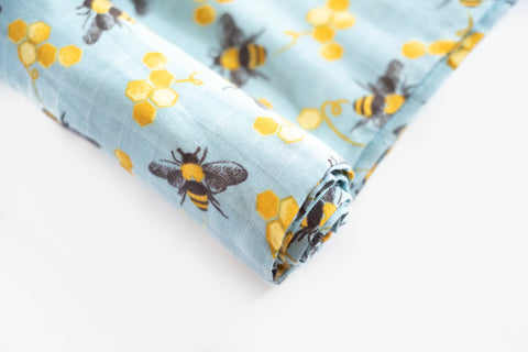 Save The Bees | Cotton Single Swaddle - Oliver + Kit