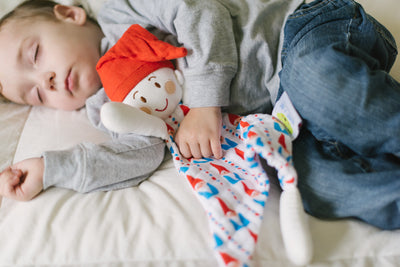 Sven the Gnome | Red & Blue Gnome | Cotton Snuggle Lovie - Oliver + Kit