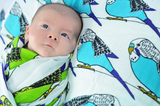 Birds of a Feather | Cotton Swaddle Duo - Oliver + Kit