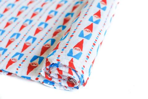 Go Big or Go Gnome | Cotton Single Swaddle - Oliver + Kit