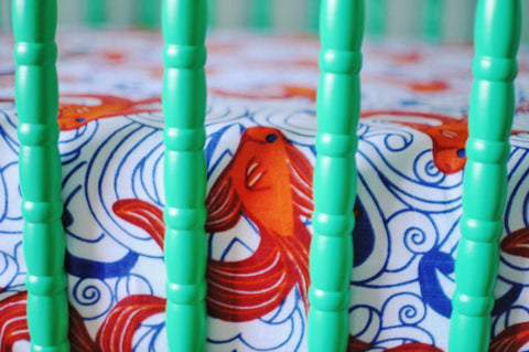 Go Fish | Bamboo Blend Crib Sheet - Oliver + Kit
