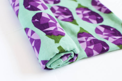 Ode to Eggplant | Cotton Single Swaddle
