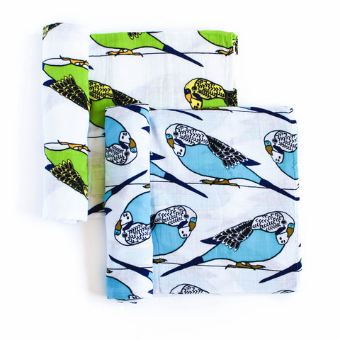Birds of a Feather | Cotton Swaddle Duo