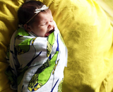 A Little Birdie Told Me | Cotton Single Swaddle - Oliver + Kit
