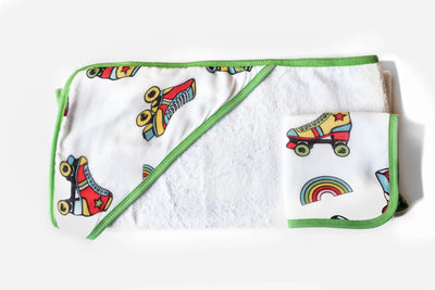 Wheels | Baby-Big Kid Towel + Washcloth Set - Oliver + Kit
