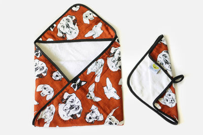 Three Dog Night | Baby Towel + Washcloth Set - Oliver + Kit