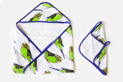A Little Birdie Told Me | Baby Towel + Washcloth Set - Oliver + Kit
