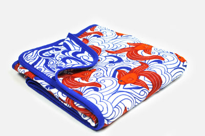Go Fish | 8-Layer Bamboo Blend | Reversible Cuddle Blanket - Oliver + Kit