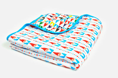 Chillin' With My Gnomies | 6-Layer Cotton | Lightweight Cuddle Blanket - Oliver + Kit