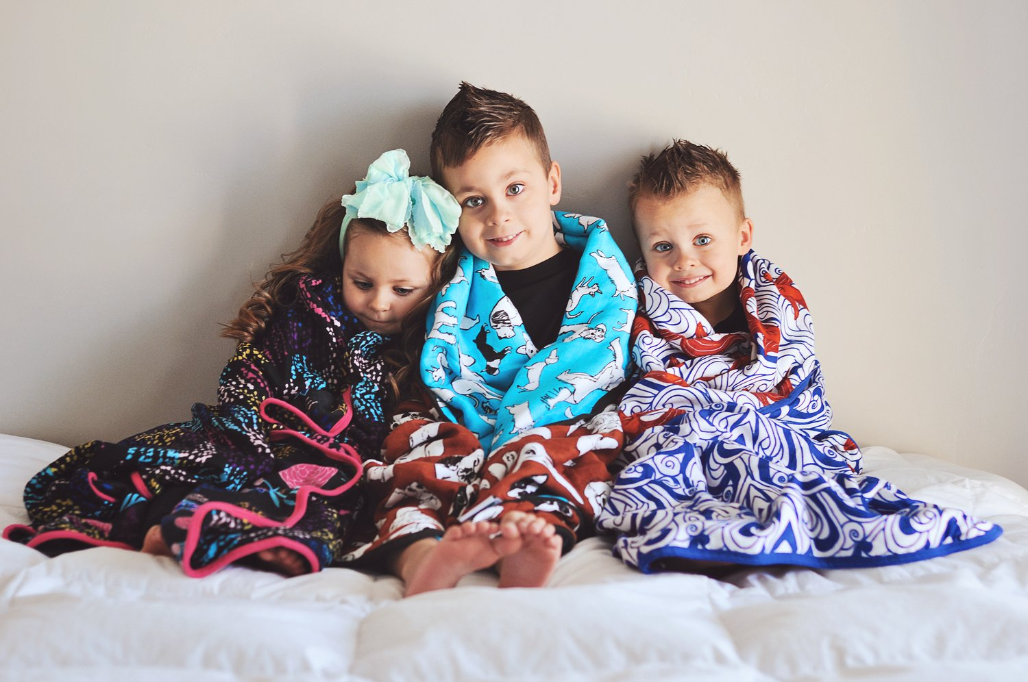 Oliver + Kit 8 layer reversible cuddle blankets dream blankets quilts