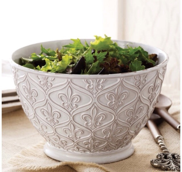 Fleur De Lis Serving Bowl Perfect Gifts