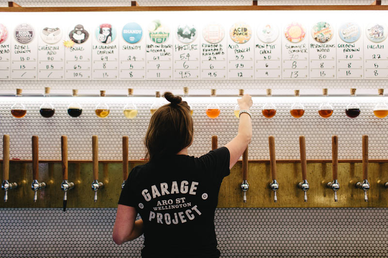 Craft Beer Selection - Garage Project Tap Room