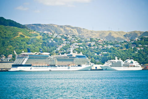Cruise Ships and Hills