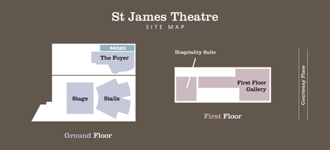 St James Theatre Wellington site map