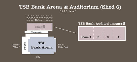 TSB Arena & Auditorium (Shed 6) site map