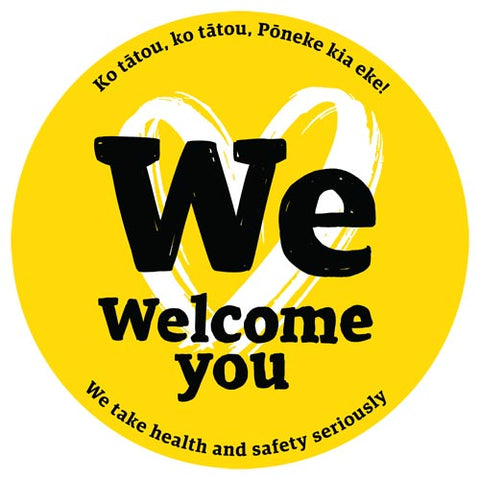 We welcome you badge