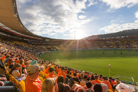 Sunset at Westpac Stadium
