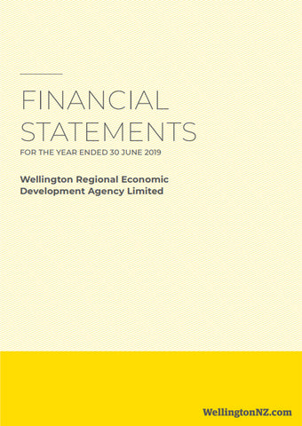 WellingtonNZ Financial Statements 2018-19