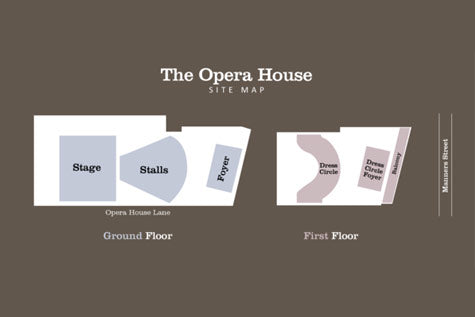 The Opera House Wellington site map