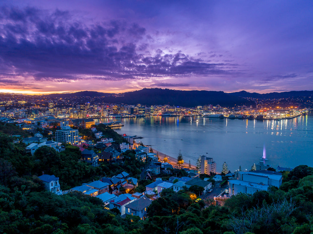 Sunset over Wellington
