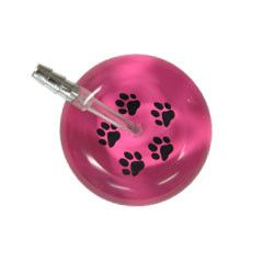 UltraScope Cardiology Stethoscope Paw Prints Hot Pink