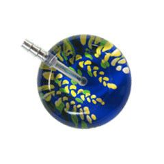 UltraScope Cardiology Stethoscope Flower Vines Royal Blue
