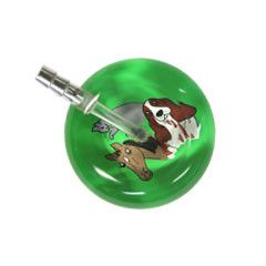 UltraScope Cardiology Stethoscope Horse, Cat & Dog Light Green