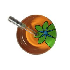 UltraScope Cardiology Stethoscope Abstract Daisy Orange and Light Green