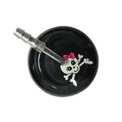 UltraScope Cardiology Stethoscope Girly Skull Black and Pink Ribbon