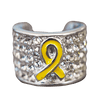 Stethoscope Charm Troops Awareness Ribbon Yellow