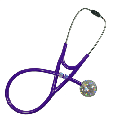 Stethoscope Charm Awareness Ribbon Black