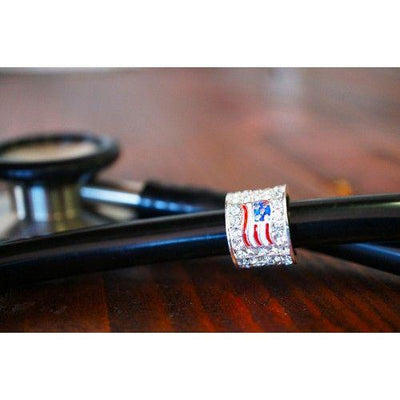 American Flag Stethoscope Charm by CharMed