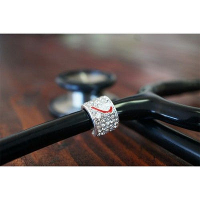 Stethoscope Charm Head and Neck Cancer Awareness Ribbon