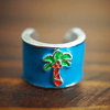 Stethoscope Charm Palm Tree
