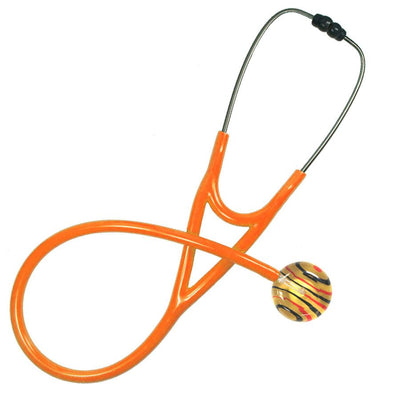 UltraScope Single Stethoscope 2 Color Stripe Gold with orange tubing by ultrascope
