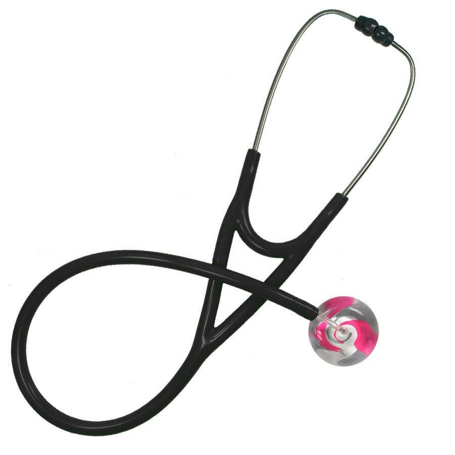 UltraScope Cardiology Stethoscope Color Me Swirled Pink
