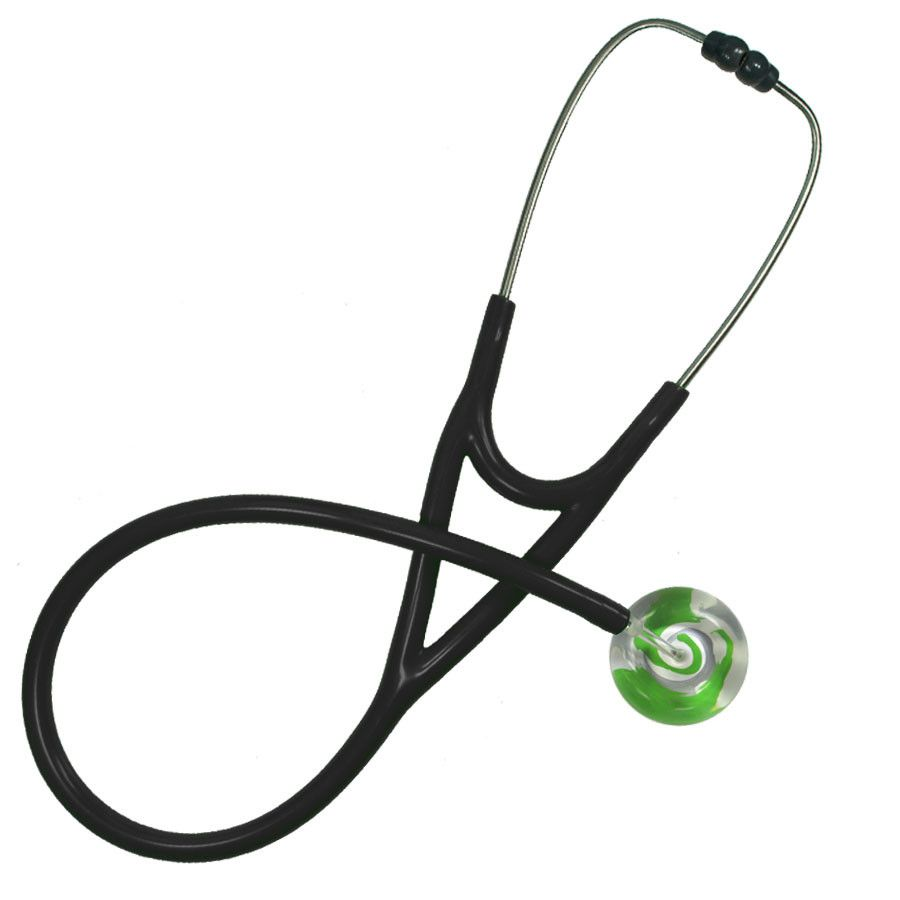UltraScope Cardiology Stethoscope Color Me Swirled Light Green
