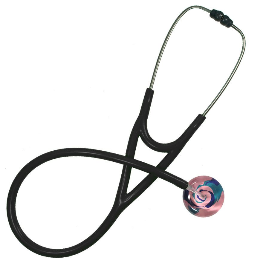 UltraScope Cardiology Stethoscope Color Me Swirled Light Pink