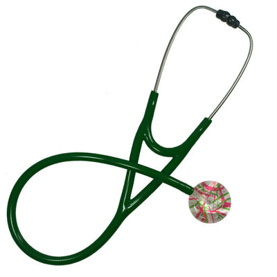 UltraScope Cardiology Stethoscope Razzle Dazzler Hot Pink and Light Green