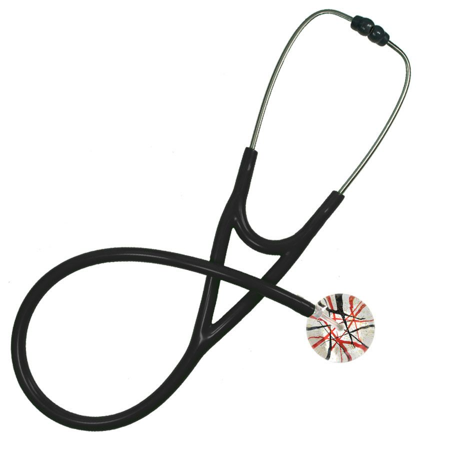 UltraScope Cardiology Stethoscope Razzle Dazzler Red and Black