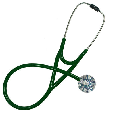 UltraScope Cardiology Stethoscope Razzle Dazzler Teal and Navy Blue
